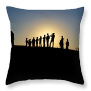 We Are Waiting Throw Pillow