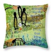 We Believe Romans 8 28 Throw Pillow