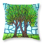 We Grow Closer As We Grow Older Throw Pillow