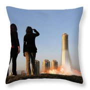 We Have Lift-off Throw Pillow