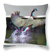 We Have Liftoff - Use Red-cyan 3d Glasses Throw Pillow
