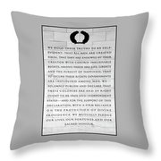 We Hold These Truths.... Throw Pillow