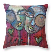 We Live With Love In Our Hearts Throw Pillow