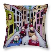 We Race Unaware Toward The End Of Days Throw Pillow