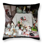 We Sell Chickens Throw Pillow