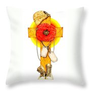 We Shall Never Forget Throw Pillow