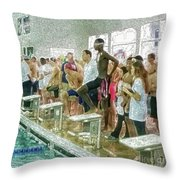 We Swim Throw Pillow