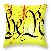 We The People Celebrate A Republic Artist Series Jgibney The Museum Throw Pillow