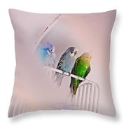 We Three Birds Throw Pillow