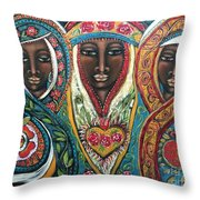 We Three Queens Of Orient Are Throw Pillow