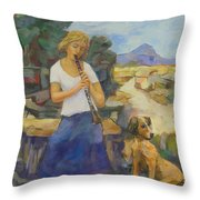 We Two Or Petite Fleur Throw Pillow