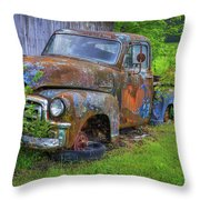 Wears Valley 1954 Gmc Wears Valley Tennessee Art Throw Pillow