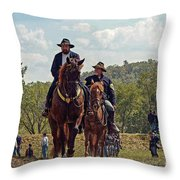 Weary Union Soldiers Throw Pillow