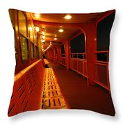 Weather Deck Starboard Side Night Throw Pillow