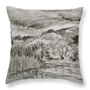 Weather Over Agua Caliente Throw Pillow
