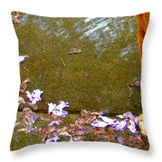 Wading On Lavender   Throw Pillow