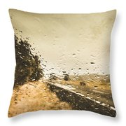 Weather Roads Throw Pillow
