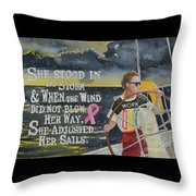 Weather The Storm Throw Pillow