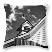 Weather Vane Bw Throw Pillow