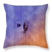 Weather Vane Sunset Throw Pillow