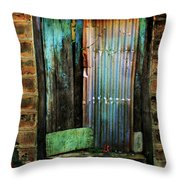 Weatherd Entry Throw Pillow by Perry Webster