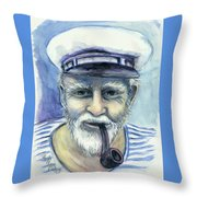 Weathered - He And His Memories... Throw Pillow
