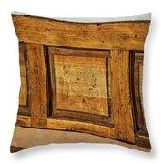 Weathered Bench - Santa Fe #2 Throw Pillow