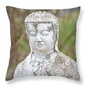 Weathered Buddha Statue Throw Pillow