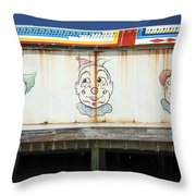 Weathered Clowns Throw Pillow