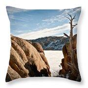 Weathered - Pathfinder Reservoir - Wyoming Throw Pillow