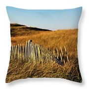 Weathered Dune Fence. Throw Pillow