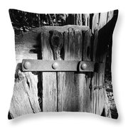 Weathered Fence In Black And White Throw Pillow