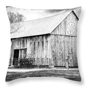Weathered Gray - Bw Throw Pillow