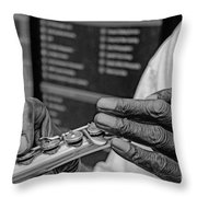 Weathered Hands Throw Pillow