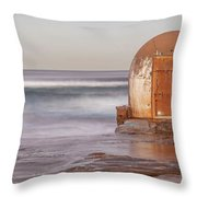 Weathered In Time Throw Pillow