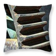 Weathered Metal Cogs Throw Pillow