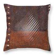 Weathered Metal Rivets Throw Pillow