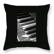 Weathered Music Throw Pillow