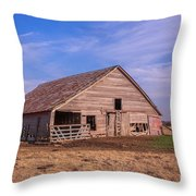 Weathered Old Barn Throw Pillow