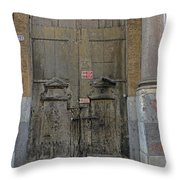 Weathered Old Door On A Building In Palermo Sicily Throw Pillow