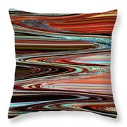 Weathered Roots Abstract Throw Pillow