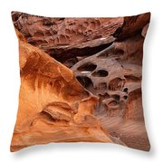 Weathered Sandstone Throw Pillow by Leland D Howard