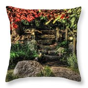 Weathered Stairway Throw Pillow
