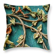 Weathered Wall Art Throw Pillow