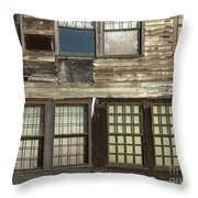 Weathered Windows Throw Pillow