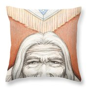 Weathered Wisdom Throw Pillow