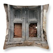 Weathered Wood Window Throw Pillow