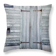 Weathered Wooden Door In France Throw Pillow