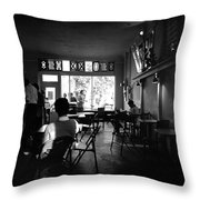 Weatherstone Coffee House  Throw Pillow