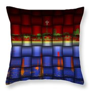 Weave Of The Needle Throw Pillow